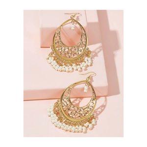 Boho Beads & Tassel Drop Earrings